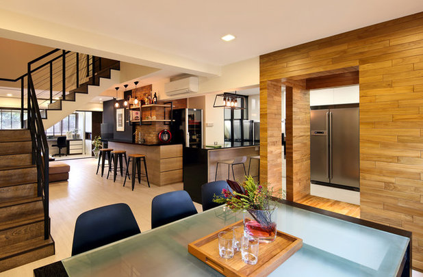 Contemporary Dining Room by SYRB