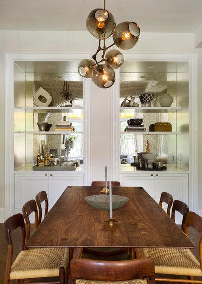Transitional Dining Room by Tanya Capaldo Designs