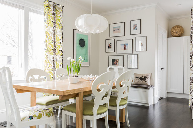 Transitional Dining Room by Annie Hall Interiors