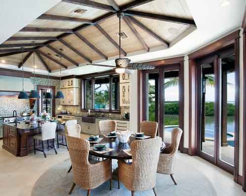 houzz tropical dining room design ideas amp remodel pictures one room challenge tropical dining room reveal
