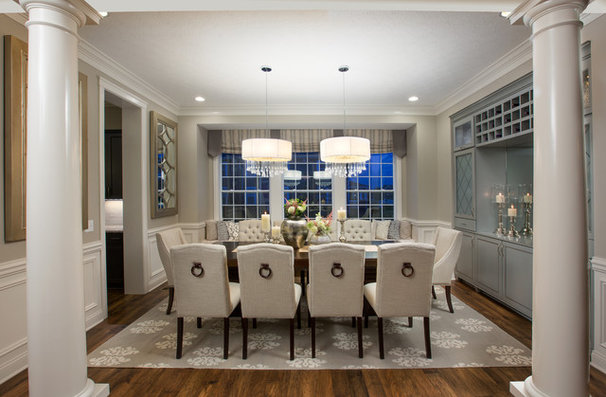Transitional Dining Room by Mary Cook