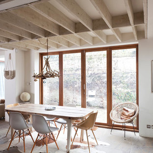 Design ideas for a rustic dining room in London.