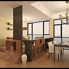 Asian Dining Room tea space with dining room