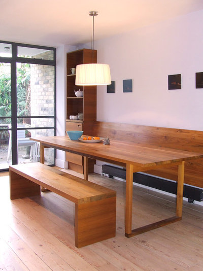 Contemporary Dining Room by Craigie Woodworks