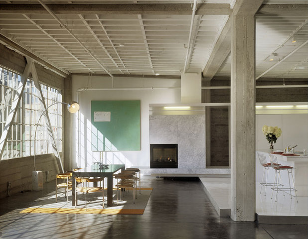 Industrial Dining Room by Fougeron Architecture FAIA