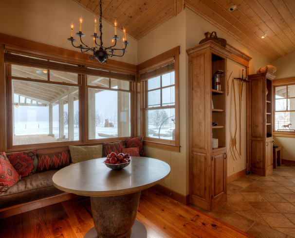 Farmhouse Dining Room by Dan Nelson, Designs Northwest Architects