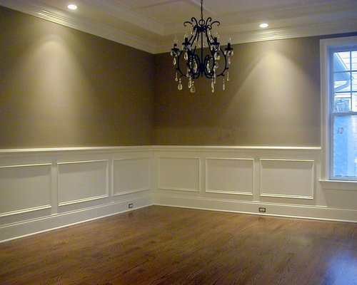 Shadow box mouldings houzz for Dining room designs with chair rail