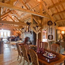 Traditional Dining Room by Sand Creek Post & Beam