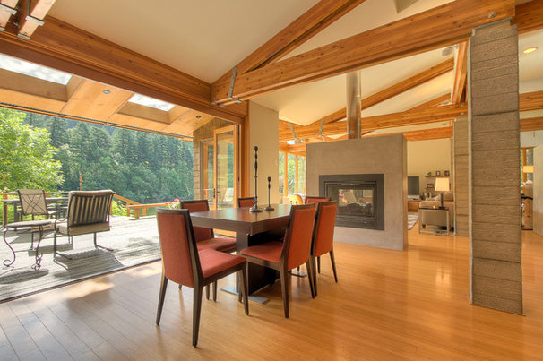 Contemporary Dining Room by TerryIverson Photography
