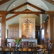 Mediterranean Dining Room by Texas Home Plans