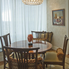 contemporary dining room by Barbara Jacobs Color and Design