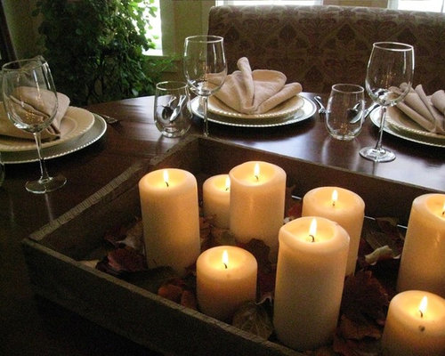 example of a classic dining room design in other - Dining Room Table Candle Centerpieces