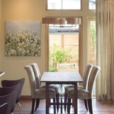 Contemporary Dining Room by Alan Mascord Design Associates Inc