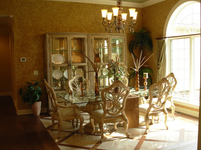 Mediterranean Dining Room by Otero Signature Homes