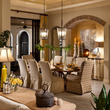 Mediterranean Dining Room by John Cannon Homes