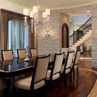 Trendy dark wood floor dining room photo in Tampa