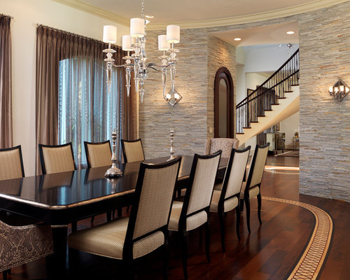 Stone Wall Dining Room Home Design Ideas Pictures Remodel And Decor