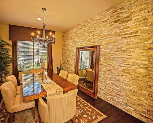 Traditional Stone Buttress Wall Dining Room Design Ideas, Renovations ...