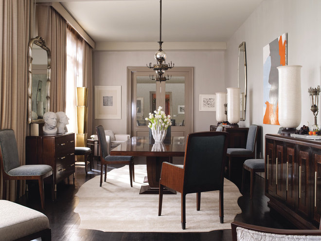 Contemporary Dining Room by Baker Furniture