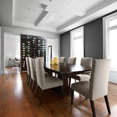 contemporary dining room by Urban Development Inc