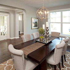 Transitional Dining Room by Robert Thomas Homes