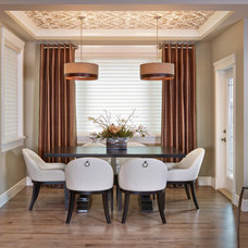 Transitional Dining Room by Infiniti Master Builder