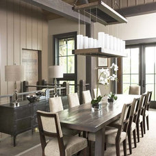 Rustic Dining Room by Linda McDougald Design | Postcard from Paris Home