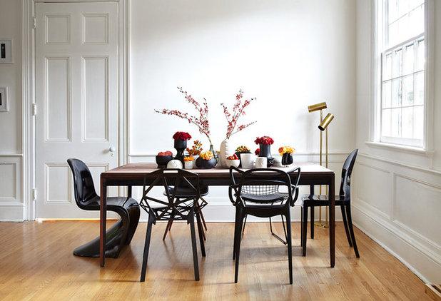 Inspiration: miks dine stole på kryds og tværs i spisestuen