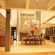 Modern Dining Room by David Small Designs