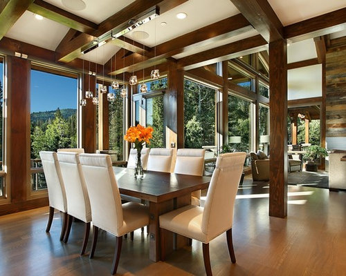 Houzz craftsman dining room design ideas remodel pictures for Small dining room ideas houzz