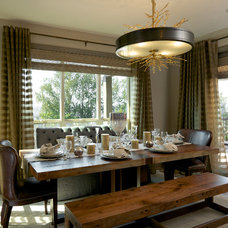 Transitional Dining Room by Urban I.D. Interior Design Services