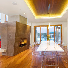 Contemporary Dining Room by Neal Huston & Associates