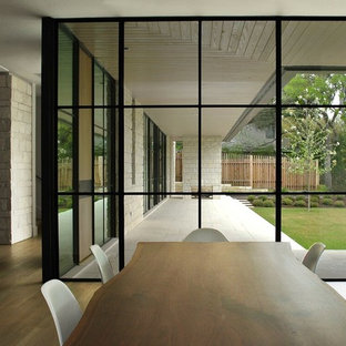 Design ideas for a modern dining room in Essex.