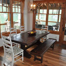 Traditional Dining Room by Rustic Trades Furniture