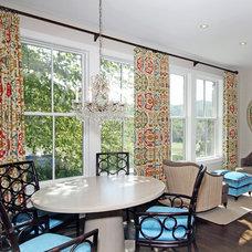 Farmhouse Dining Room by PT Designs Inc. Paula Tranfaglia - Decorating Den