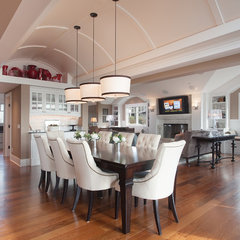 eclectic dining room by Kristi Spouse Interiors