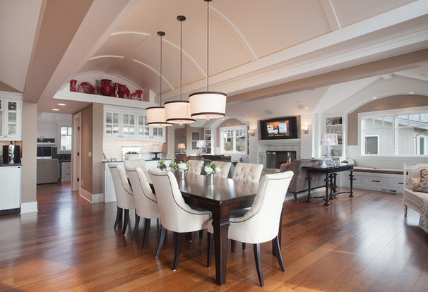 Traditional Dining Room by Kristi Spouse Interiors
