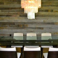Contemporary Dining Room The Garrett's Contemporary Rustic in the City