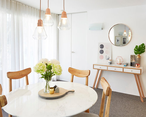 Scandinavian dining room design ideas renovations photos Scandinavian style dining room