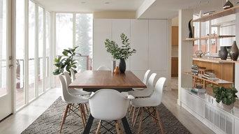The Glass House: Modern Living & Dining Room Design