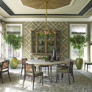 Dining room - eclectic dining room idea in Portland