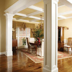 Dining Room With Custom Trim Traditional Dining Room