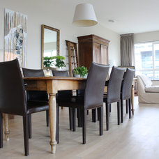 Transitional Dining Room by Holly Marder