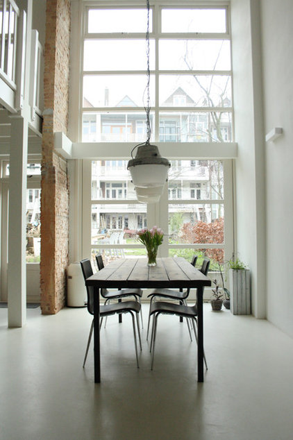 industrial dining room by Holly Marder
