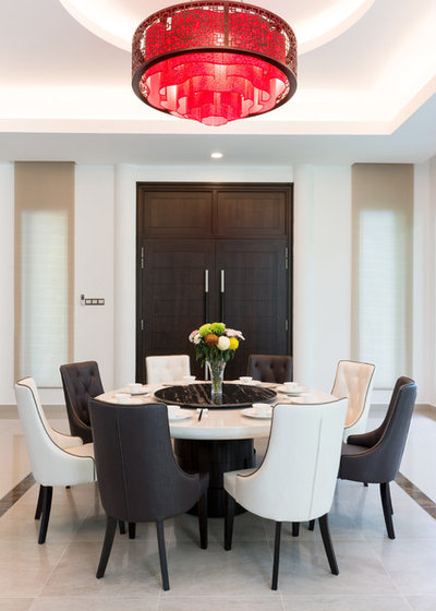 Fusion Dining Room by luxur design pte ltd