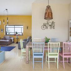 Mediterranean Dining Room by Echo Design