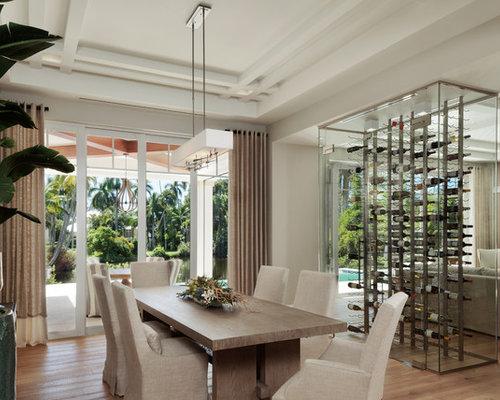 Coastal Light Wood Floor Great Room Photo In Miami