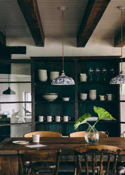 Rustic Dining Room by Field Day Studio