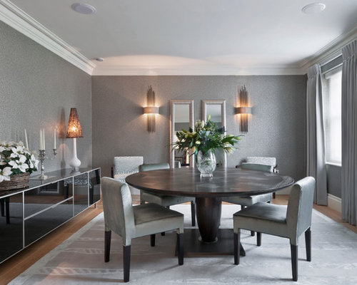 Best grey dining room design ideas remodel pictures houzz for Grey dining room