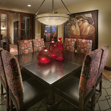 Mediterranean Dining Room by Celebrity Communities